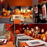 Thanksgiving table scape on a budget