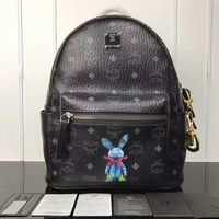 MCM Small Stark Rabbit Backpack In Black