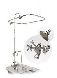 Claw foot tub shower conversion kit