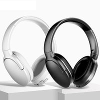 Bluetooth 5.0 Baseus Encok D02 HiFi Wireless Bluetooth Headphone Heavy Bass Stereo Foldable 3.5mm Audio Headset with Mic