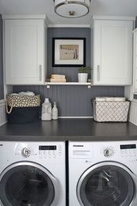 When it comes to the laundry, organization is key and style is a bonus. Even when you're cultivating a home with the sleekest of fashions and ultra-modern flair