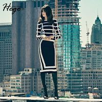 Office Wear Simple Attractive Slimming 9/10 Sleeves Stripped Formal Wear Dress Basics - Bonny YZOZO Boutique Store