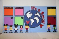 Disney It's A Small World 12 x 12 Scrapbook Page Kit