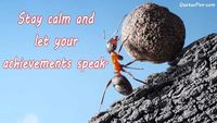 stay calm motivational quote.