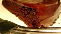 """Flourless Chocolate Cake II The """"flour"""" comes from the cocoa powder"""