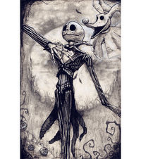 "New Skellington 8x10"" High Quality art print by Alex Dakos 2017 $15.00"