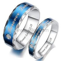 Personalized Forever Love Promise Couple Rings Set of Two https://www.gullei.com/korean-fashion-titanium-steel-couple-rings.html