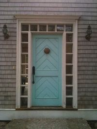 CREED: Front Door Friday: Turquoise & Chevron