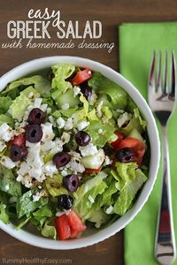 Easy Greek Salad with Homemade Dressing Recipe