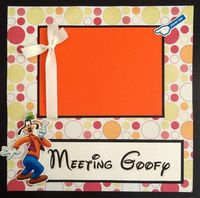 Meeting GOOFY premade 12x12 scrapbook page by lovethatscrap, $9.00