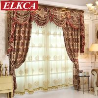 European Luxury Jacquard Blackout Curtains for Bedroom Luxury Curtains $90.42