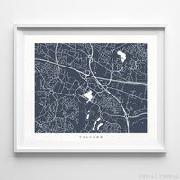 Telford, England Street Map Horizontal Print by Inkist Prints - Available at https://www.inkistprints.com