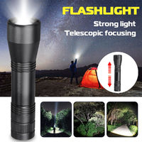 T6 Portable Black Tactical Military LED Flashlight Torch Zoom-able Work