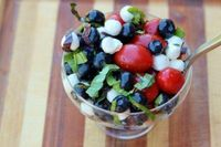 Red, White, & Blueberry Caprese Salad by Emily Malone