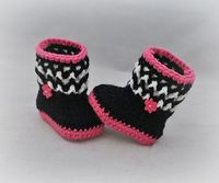 "Ravelry: Baby Boots Booties Slippers ""Baby Snuggly Snuggs"" pattern by Elizabeth Alan"