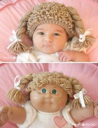 My sister would hate me for making this for my niece but I love it haha Cabbage Patch Hat - #crochet #freepattern