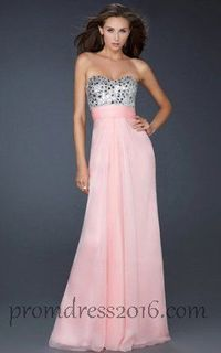 Pink Sweetheart with Sequin Long Prom Dresses Sale