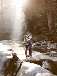 This absolutely magical snowy mountainside engagement shoot is full of so much love and breathtaking photos.
