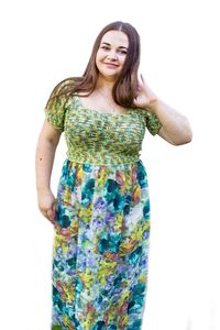 Green crochet beach dress, as knitted anniversary gift for wife, boho clothes for women plus size $220.00