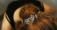 barrettes in the hair