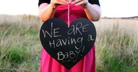 Pregnancy Announcement: Pretty in Pink | Done Brilliantly