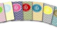 Free printable monogramed chevron binder covers. You can type in your monogram and choose your favorite color.