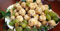 Gorgonzola Grapes...my friend did this with just grapes, cream cheese, and pecans. Delicious!