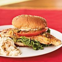 Fillets work well in these sandwiches. You can substitute tilapia or basa for catfish. Serve with coleslaw and vegetable chips.