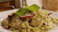 Cajun Chicken Pasta! Our all time favorite...we also make it with shrimp...but the trick is to smoke the chicken and the peppers before you add them to the sauce. Yummy!!