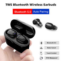 [Bluetooth 5.0] Bakeey TWS Wireless Earphone Noise Cancelling Touch Control Headphone with Mic - white