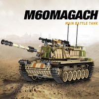 M60 Magach Tank 1753 Pieces 6 Soldiers $84.90