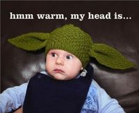 Wish I had gotten a Yoda hat like this for Beckett when he was smaller. Not sure it would work now.