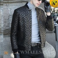 Custom Leather Jacket & Leather Shoes | Houston Mens Patched Leather Jacket CW806058 | CWMALLS®