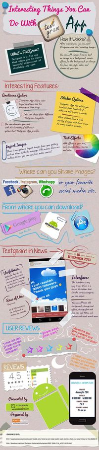 Interesting Things You Can do With Textgram App [Infographic]