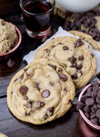 These easy, soft chocolate chip cookies will ruin your life, destroy your relationships, and consume your soul. They even have a secret ingredient. Ugh.