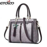 women handbags leather bag top-handle bags new shoulder bag simple retro tassels $39.18