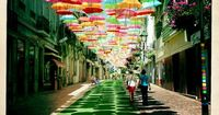 This July, the streets of �gueda, Portugal were displaying this absolutely beautiful installation!