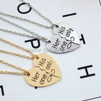 Her Only His Only Couple Necklaces Anniversary Gift https://www.gullei.com/her-only-his-only-couple-necklaces-anniversary-gift.html