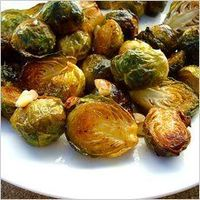 Maple-Roasted Brussels Sprouts #Thanksgiving #Vegetables