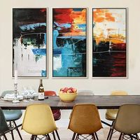 3 pieces Wall Art Abstract acrylic painting on canvas extra large textured Wall art Pictures for living room Home Decor cuadros abstractos $175.29