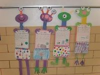 I pulled out one of our favorite books Aliens Love Underpants. I also incorporated a writing activity in which the students wrote about things that they really liked about first grade. Check out the pic below!!!