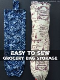 How to sew grocery bag holders. You can store lots of plastic bags in these until you're ready to reuse them. These make fantastic gifts for the holidays and ar