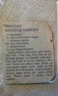 The Snowball/Mexican Wedding Cookie recipe my grandma always made for Christmas. They're my favorite Christmas cookie ever! by patrice