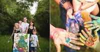 Family Portraits with Paint! love these!!!! by - R & J Studios Blog: Miller Family / Webster, TX / Fun Family Photography