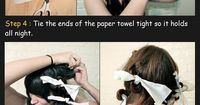 Curly Hair With Paper Towels   Beauty Tutorials