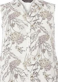 Dorothy Perkins Womens Floral Sleeveless Jersey Shirt- Ivory Sleeveless jersey button down shirt in all over print. The wearing length is approximately 63cm. 100% Viscose. Machine washable. http://www.comparestoreprices.co.uk//dorothy-perkins-womens-f...