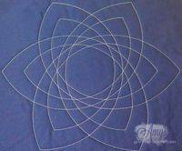 It's like Spirograph for quilters! Celtic knot quilting template for free motion quilting with rulers.