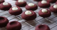 red velvet cookies with cream cheese centers | butter me up, brooklyn!
