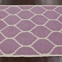lovely lavender and white rug
