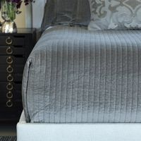 Aria Light Grey Velvet Bedding by Lili Alessandra $600.00